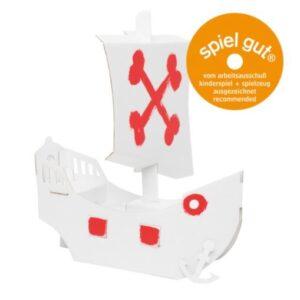 Barco pirata de cartón para pintar